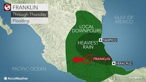 California Weather Map Franklin Dissipates In Mexico After Making Landfall As A Hurricane