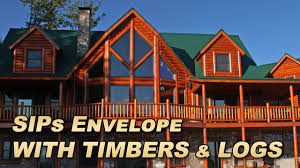 Interior Log Homes Sips With Timber Frame Interior Log Exterior Youtube