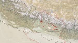 Map Of Nepal And Surrounding Countries by Maps Of The Damage From The Nepal Earthquakes The New York Times