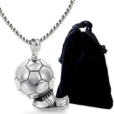 stainless steel ball necklace images Stainless steel soccer ball necklace my side joy jpg
