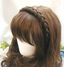 braided hair headband headband fashion elastic stretch synthetic hair braid braided
