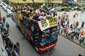 con caravana fue recibido fuerza amarilla tras ascenso a la serie