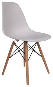 Molded Dining Chairs Molded Plastic Side Chair Wood Leg Base White Shell Lemoderno