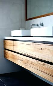 Hanging Bathroom Vanities Wall Hung Bathroom Vanity White Oak Timber Wood Grain Wall Wall