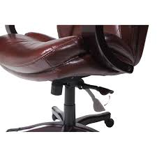 Executive Brown Leather Office Chairs Serta At Home 43506 Big And Tall Eco Friendly Bonded Leather