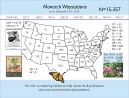 Michigan On Map Monarch Butterfly