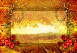 fall powerpoint template free autumn leaf frame backgrounds for