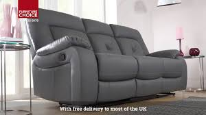 hanover leather recliner sofa by furniture choice youtube