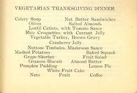Vegetarian Thanksgiving Dinner A 1904 Vegetarian Thanksgiving Dinner Inside Science