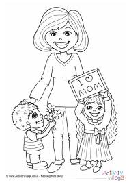 mothers day coloring pages u0026 mothers day poster images happy