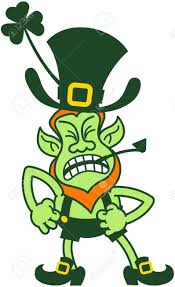 clipart of an angry leprekhan collection