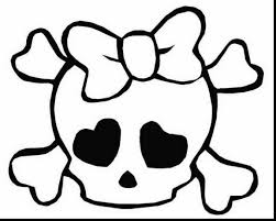 excellent cute skull coloring pages with skull coloring pages