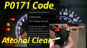 toyota check engine light codes toyota corolla check engine light code p0171 clean maf with