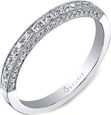 Princess Cut Diamond Wedding Rings by Sylvie Princess Cut Diamond Wedding Band Sy652b