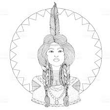 free mative american braids for hair photos vector drawing portrait of a beautiful young native american girl
