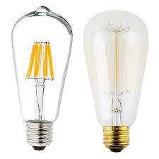 st18 led filament bulb 70 watt equivalent led vintage light bulb