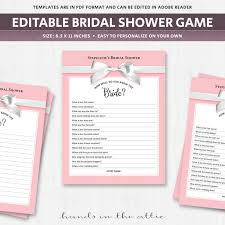 bridal shower groom questions bridal shower quiz download for guests trivia questions