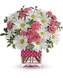 Same Day Delivery Flowers Polka Dots And Posies Delightfully Cheery Long Lasting Too
