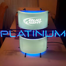 bud light light up sign find more bud light platinum commercial grade neon wall sign for