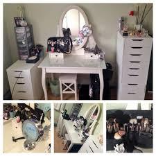 interior makeup desk ideas ikea malm dressing table glass top