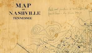 Nashville Zip Code Map by Old Map Of Nashville Tennessee 1860 Restoration Hardware Style