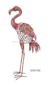 pink flamingo wrought iron metal garden ornaments buy garden