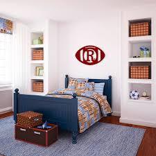 monogram football door hanger wooden wall monogram football home