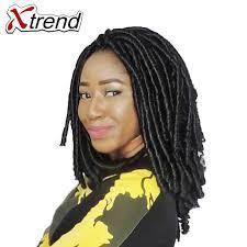 soft dred hair xtrend synthetic dreadlocks crochet twist braid hair 14inch