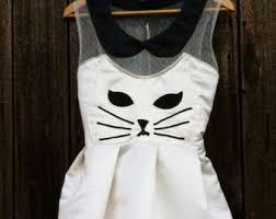 White Cat Halloween Costume Kitty Cat Dress Etsy
