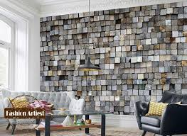 custom modern 3d wallpaper mural vintage embossed wood stick wall