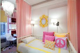 Retro Room Decor Retro Bedroom Setting With Yellow Pink Colors For Teen Girls Room