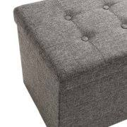 Gray Storage Bench Seville Classics Foldable Storage Bench Ottoman Charcoal Gray