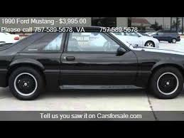 1990 mustang gt convertible value 1990 ford mustang 2dr hatchback gt for sale in virginia be