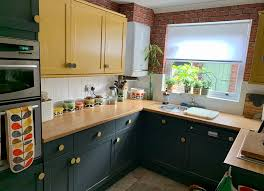 painting kitchen cabinets frenchic smudge kitchen makeover