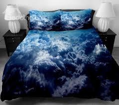 Dark Blue Duvet Dark Blue Surging Clouds Print 4 Piece Duvet Cover Sets