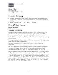 summary for resume executive summary exle resume exles of resumes