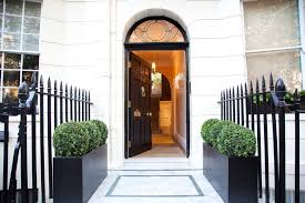 formal planters entry traditional with bespoke single front doors