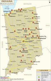 Time Zone Map Nebraska by List Of Museums In Indiana Indiana Museum Map