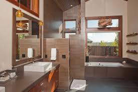 Espresso Bathroom Mirrors Walkin Shower Ideas Bathroom Craftsman With Wood Ceiling Espresso