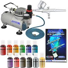 Airbrush System For Cake Decorating Bakery Airbrush Cake Kit With Compressor Hose Airbrush Paint