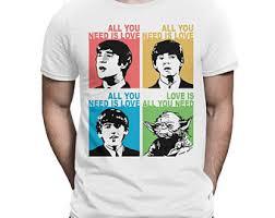 Beatles Yoda Meme - yoda t shirt etsy