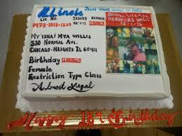 calumet bakery drivers license cake milestone birthday cakes