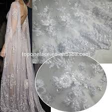 2016 new arrival europe beaded french lace fabric handwork bridal