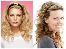 curly hairstyle with headband for oval face shape women hairstyles