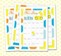 custom card template baby bingo card template free card