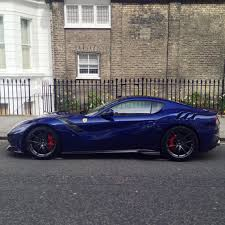 blue ferrari ferrari f12 tdf painted in le mans blue photo taken by