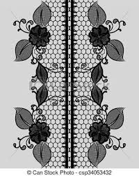 black lace ribbon abstract seamless black lace ribbon with floral pattern
