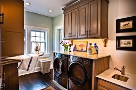 Washer And Dryer Cabinet Impressive Wall Mounted Ironing Board In Laundry Room Traditional