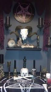 Satanic Home Decor Aged Devil Skull W 2