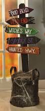 cool halloween yard sign spooky yard stake rustic wooden material